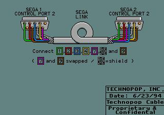 2-Player Netwok Link Cable Wiring